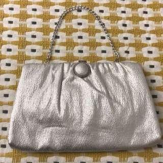現貨美國二手Vintage 1960普普風銀色太空手拿包