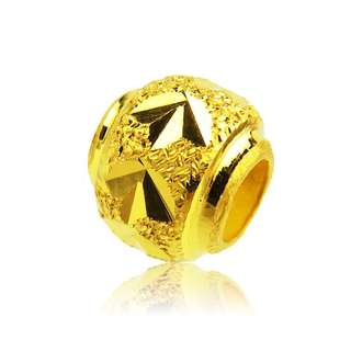 1PCS Pure 999 24k Yellow Gold Pendant/ Lucky 3.8*3.4mm Bead Pendant 0.06-0.1g