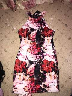 Floral dress with tag on