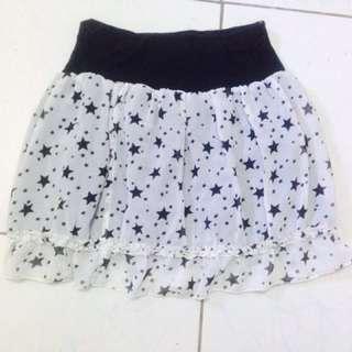 Star highwaist skirt