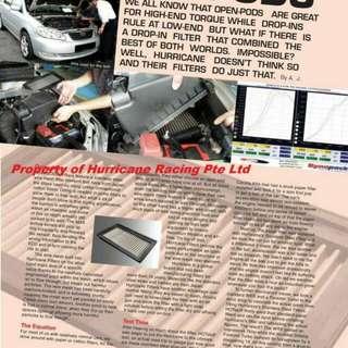 Hurricane Performance Air Filter 2
