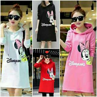 💐 Minnie Mouse Hooded Sweater Dress 💐