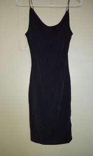 HM sparkly cowl neck dress