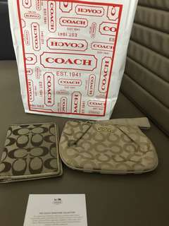 Coach wristlet & passport cover