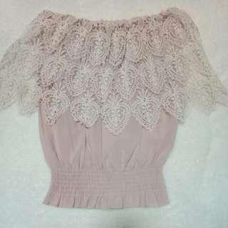 🎀 Crochet Pink Top