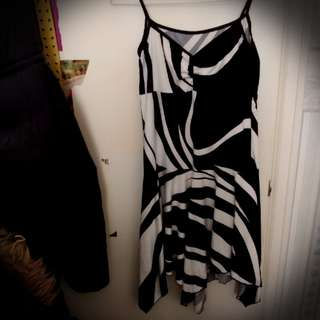 Black and White Strap Dress
