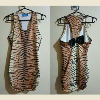 Genevieve Gozum sexy tiger dress