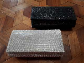 EVENING BAGS UNIQUE, SILVER, CHAMPAGNE , SLING BAG/POUCH