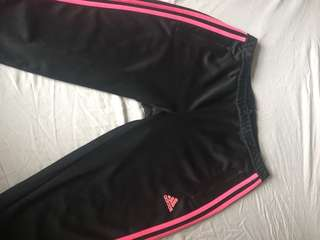 Adidas pants Black with Pink Detail