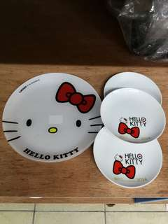 Sanrio Hello Kitty Plate sets Imported from japan