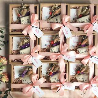 Mini bridesmaid boxes wedding gifts
