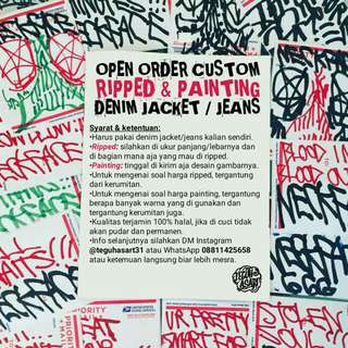 JASA RIPPED & PAINTING JACKET JEANS