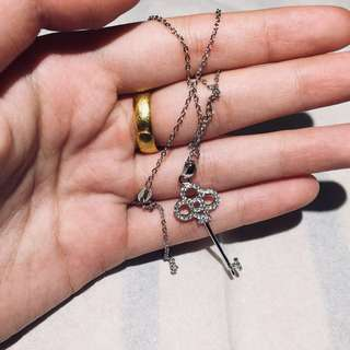925 silver key necklace