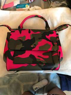 GUESS army fluro pink small handbag