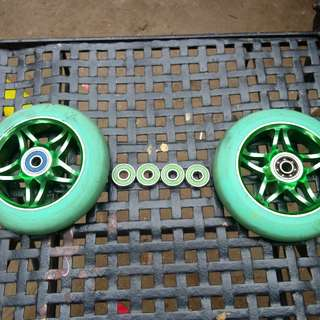 120mm havoc wheels with bearings new