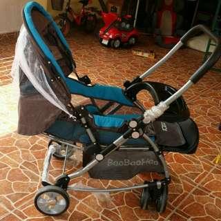 Baby pram stroller reversible