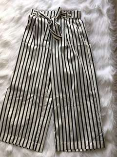 Striped long culottes