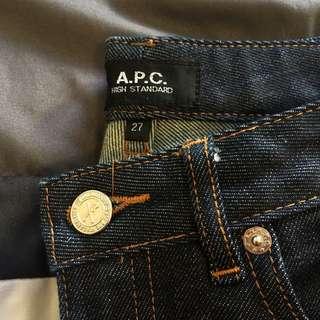 APC Raw Denim Jeans