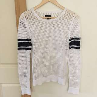 White cotton knit