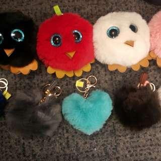 Bird Furball keychain