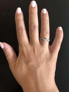 Pandora braided sterling silver ring