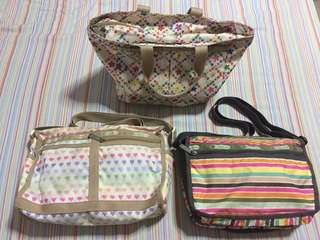 LESPORTSAC authentic preloved bags