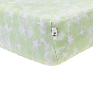 100% Organic Cotton Burt's Bee Baby BEESNUG Fitted Crib Sheet - Watercolor Star (GOTS Organic)