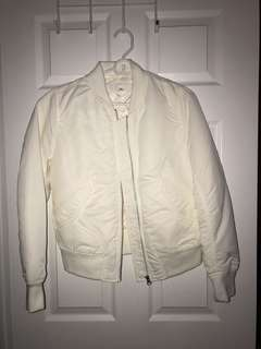 Brand new white uniqlo bomber