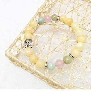 Yellow jade buddha bracelet