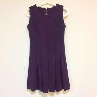 Crochet Skater Dark Purple Dress
