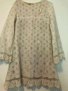 Boohoo white dress