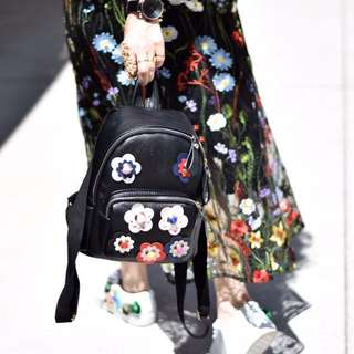 Floral black backpack