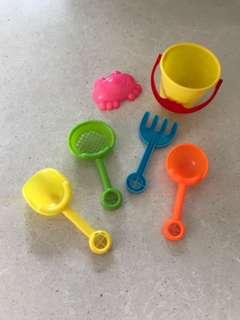 Sandcastle Equipments For Little Tota