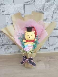 Winnie the Pooh graduation bouquet