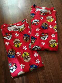 Paw patrol couple shirt - small and large