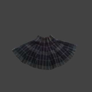 Plaid black/gray knitted skater skirt