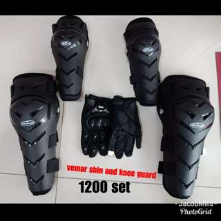 Set of Vemar bigknee and asspec gloves