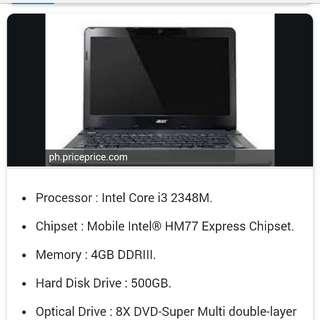 Acer laptop i3