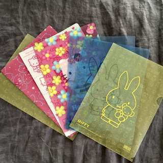 Hello Kitty/Miffy A4 document holders