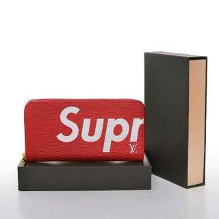 LV Supreme Zipper Wallet Unisex