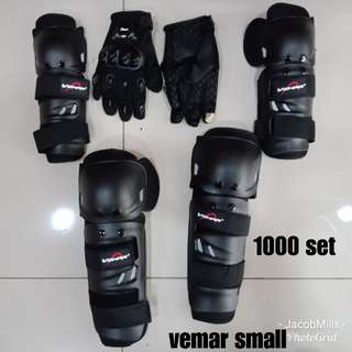 Set of Vemar shin & knee guard and gloves
