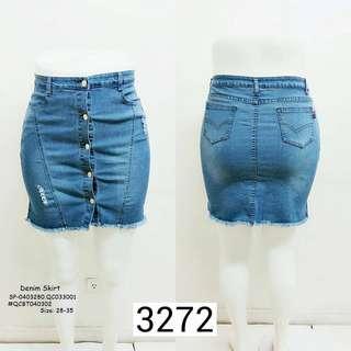 Denim skirt size : 28-35
