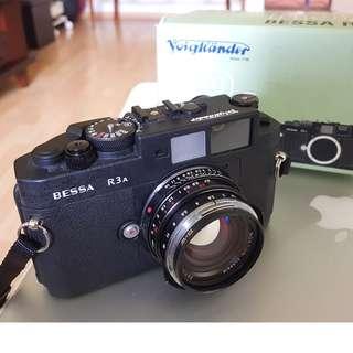 FS: Voigtlander Bessa R3A film camera body.