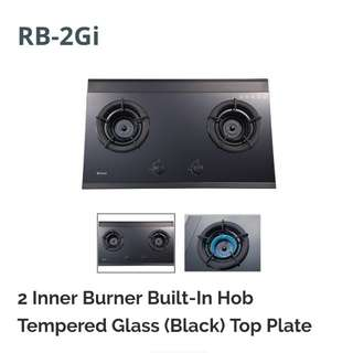 2 inner burner built in hob