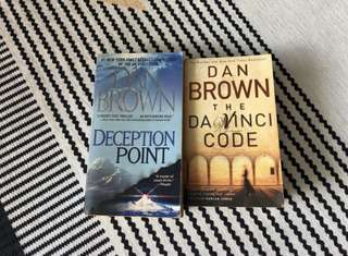 Dan Brown Books - Deception Point and The Da Vinci Code