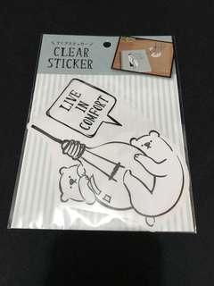 日本製 熊 大貼紙 10包郵