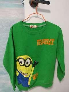 Minion 綠色長袖衛衣