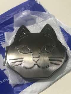 購於日本 全新貓鏡盒