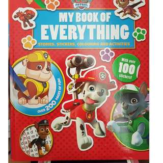 excellent condition paw patrol my book of everything - stories stickers colouring activities