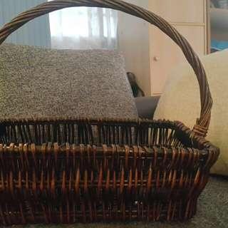 hamper banboo Basket 35cmX31cmX26cm
